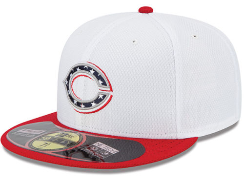 Cincinnati Reds New Era MLB 2013 July 4th Stars & Stripes 59FIFTY Cap Hats