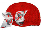 Ohio State Buckeyes Crochet Hat with Bow Apparel & Accessories