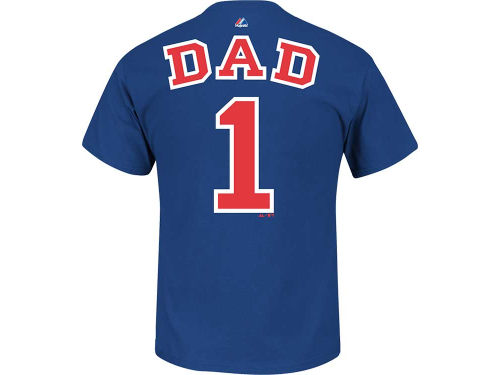 Chicago Cubs Majestic MLB Men's Team Dad T-Shirt