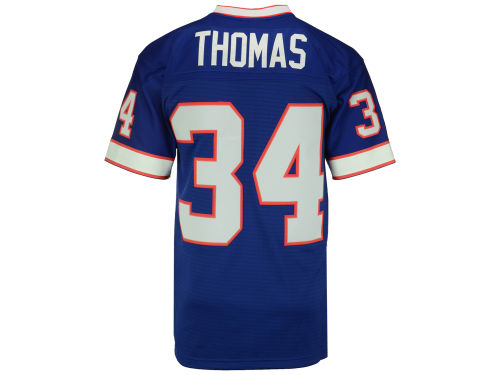 Buffalo Bills Thurman Thomas Mitchell and Ness NFL Replica Throwback Jersey