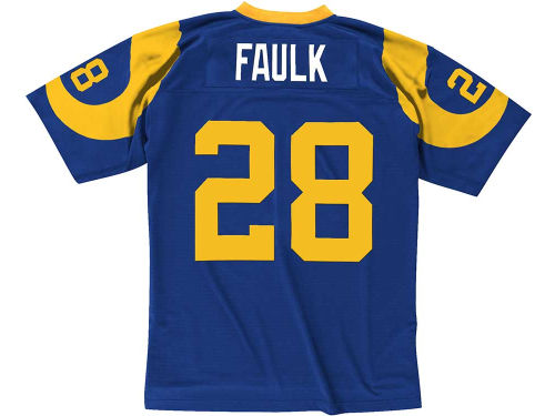 Los Angeles Rams Marshall Faulk Mitchell and Ness NFL Replica Throwback Jersey