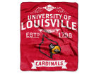 Louisville Cardinals The Northwest Company 50x60in Plush Throw Team Spirit Bed & Bath