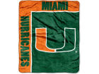Miami Hurricanes The Northwest Company 50x60in Plush Throw Team Spirit Bed & Bath