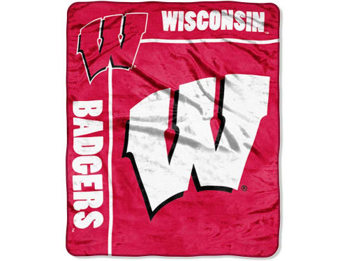 Wisconsin Badgers The Northwest Company 50x60in Plush Throw Team Spirit