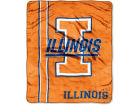 Illinois Fighting Illini The Northwest Company Plush Throw 50x60 Mesh Bed & Bath