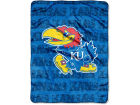 Kansas Jayhawks The Northwest Company Micro Raschel 46x60 Grunge Bed & Bath