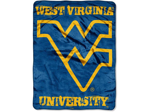 West Virginia Mountaineers The Northwest Company Micro Raschel 46x60 Grunge