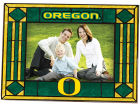 Oregon Ducks Art Glass Picture Frame Bed & Bath