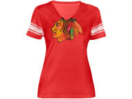 GIII NHL Womens Vneck With Sleeve Stripes T-Shirt T-Shirts