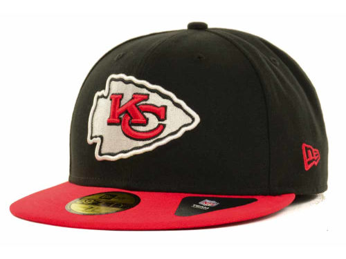 Kansas City Chiefs New Era NFL Black Team 59FIFTY Cap Hats