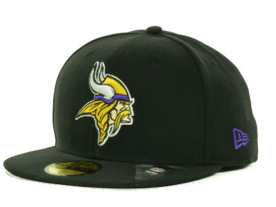 Minnesota Vikings NFL Black Team 59FIFTY Cap Hats