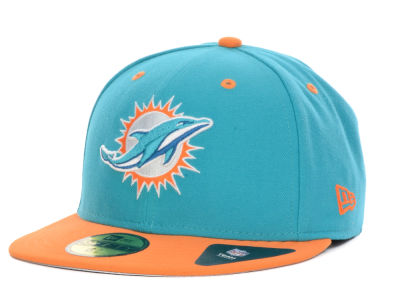 Miami Dolphins NFL 2 Tone 59FIFTY Cap Hats