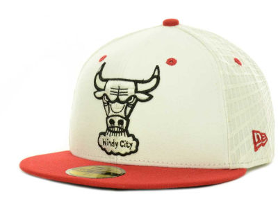Chicago Bulls NBA Hardwood Classics AJ Hookup 59FIFTY Cap Hats
