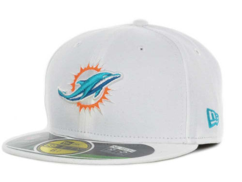 Miami Dolphins New Era NFL Official On Field 59FIFTY Cap Hats