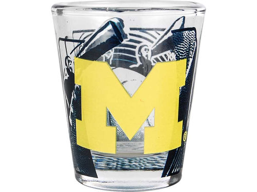 Michigan Wolverines Hunter Manufacturing 3D Wrap Color Collector Glass