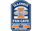 Illinois Fighting Illini Wincraft 11x17 Wood Sign Flags & Banners