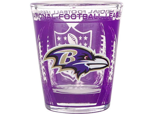 Baltimore Ravens Hunter Manufacturing 3D Wrap Color Collector Glass