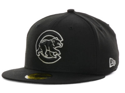 Chicago Cubs MLB Black on Color 59FIFTY Cap Hats