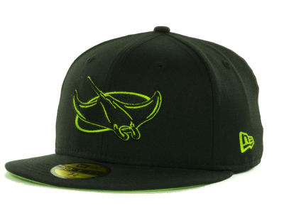 Tampa Bay Rays MLB Black on Color 59FIFTY Cap Hats