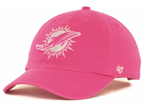 Miami Dolphins '47 NFL Womens Berry Clean Up Cap Hats