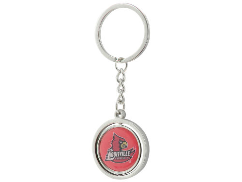 Louisville Cardinals Aminco Inc. Spinning Keychain