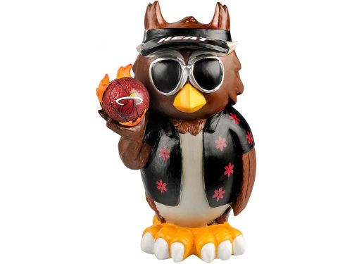 Miami Heat Forever Collectibles Thematic Owl Figure