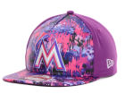 Miami Marlins New Era MLB Splat 9FIFTY Strapback Cap One Size Hats