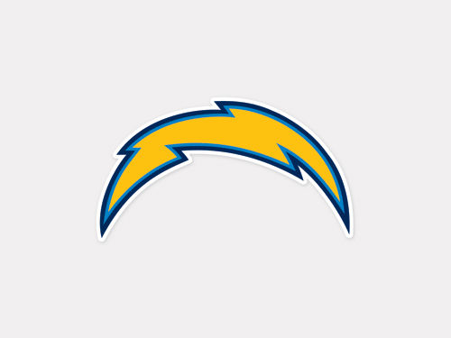 San Diego Chargers Wincraft 4x4 Die Cut Decal Color