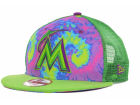 Miami Marlins New Era MLB Popped Out Mesher 9FIFTY Snapback Cap Adjustable Hats