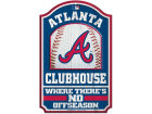 Atlanta Braves Wincraft 11x17 Wood Sign Flags & Banners
