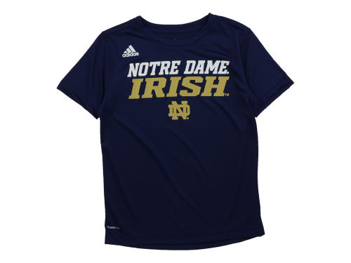 Notre Dame Fighting Irish adidas NCAA Youth Sideline Climalite T-Shirt
