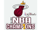 Miami Heat Rico Industries NBA 2013 Champs Small Static Bumper Stickers & Decals