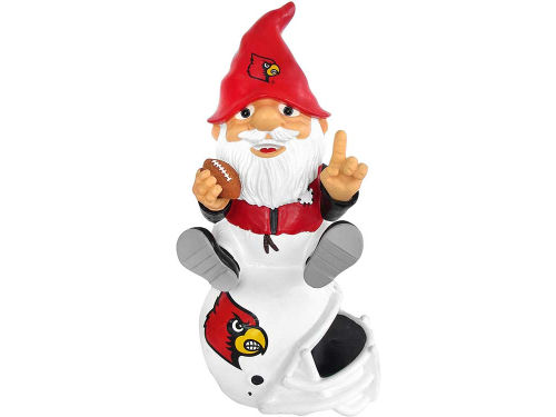 Louisville Cardinals Forever Collectibles Gnome Sitting on Logo