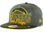 San Diego Chargers New Era NFL Graphite Out and Up 9FIFTY Snapback Cap Hats