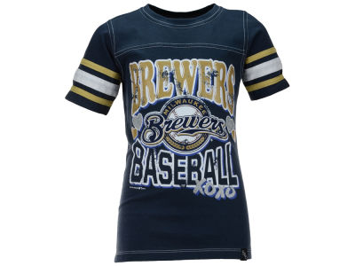 Milwaukee Brewers MLB Youth Girls XOXO T-Shirt