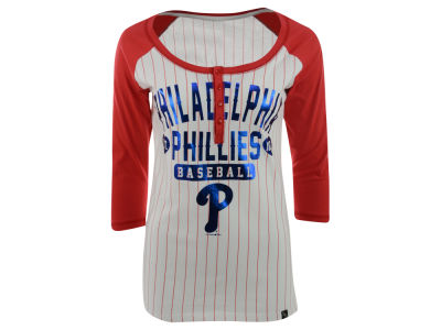 Philadelphia Phillies MLB Women's Opening Night Stripe Henley T-Shirt