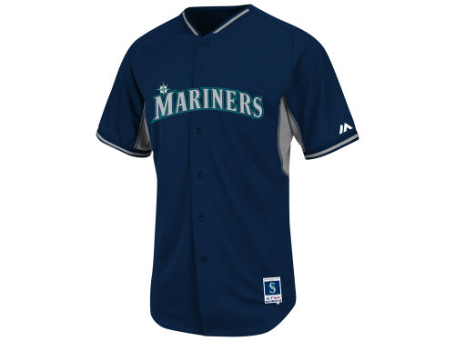 Seattle Mariners Majestic MLB Men's Cool Base Batting Practice Jersey