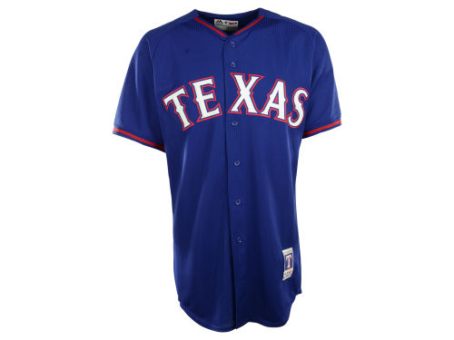 Texas Rangers Majestic MLB Men's Cool Base Batting Practice Jersey