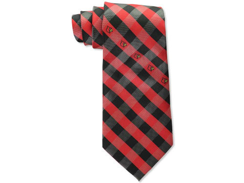 Louisville Cardinals Eagles Wings Polyester Checked Tie