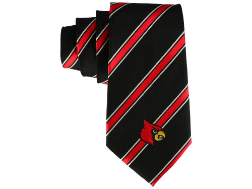 Louisville Cardinals Eagles Wings Necktie Woven Poly 1