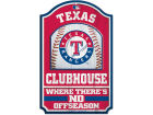 Texas Rangers Wincraft 11x17 Wood Sign Flags & Banners