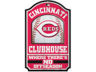 Cincinnati Reds Wincraft 11x17 Wood Sign Flags & Banners