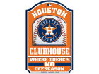 Houston Astros Wincraft 11x17 Wood Sign Flags & Banners