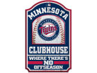 Minnesota Twins Wincraft 11x17 Wood Sign Flags & Banners