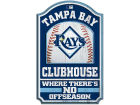 Tampa Bay Rays Wincraft 11x17 Wood Sign Flags & Banners