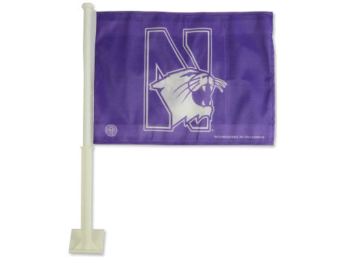 Northwestern Wildcats Rico Industries Car Flag