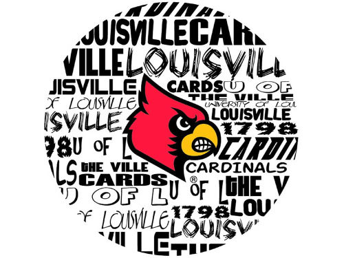 Louisville Cardinals Legacy Fabric Fan Button