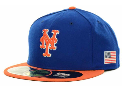 New York Mets MLB AC On Field 9-11 Patch 59FIFTY Cap Hats