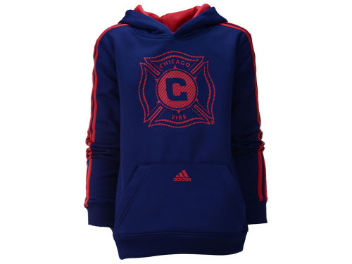 Chicago Fire adidas MLS Kids Lightstrike Pull Over Hoodie