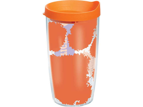 Clemson Tigers Tervis Tumbler 16oz. Colossal Wrap Tumbler with Lid
